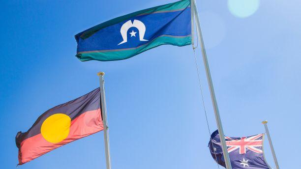 Aboriginal, Torres Strait Islands and Australian flags