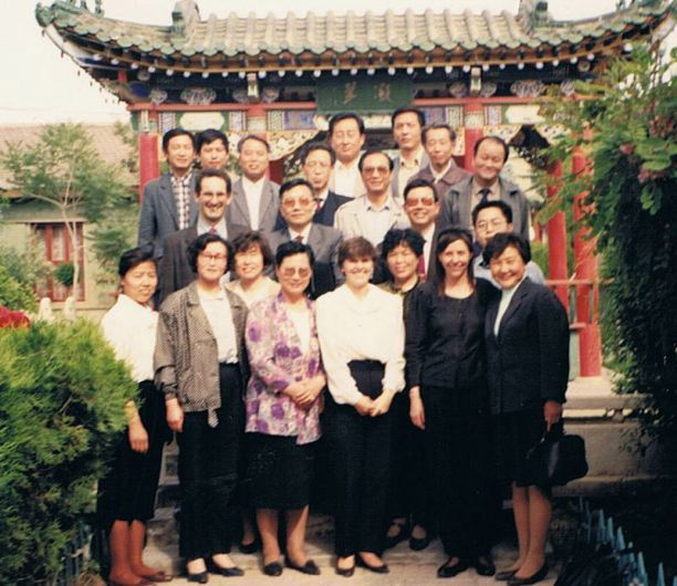 Maxine Whittaker with colleagues in in Ningxia, China