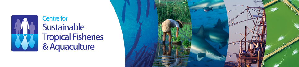 Centre for sustainable tropical fisheries and aquaculture banner.