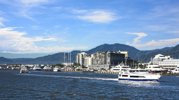 A view of the Cairns harbour.