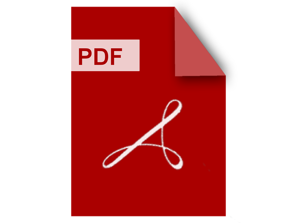 Abstract image of a PDF document image