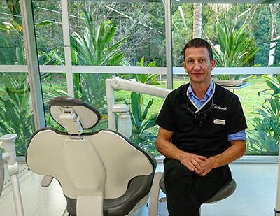 Dr Callum Blackhall in JCU Dental Clinic Cairns