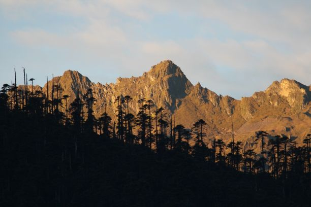 Mountain peaks in Bhutan
