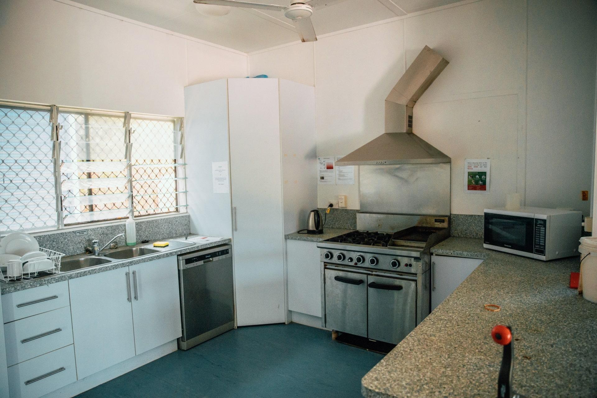 communal kitchen oven.