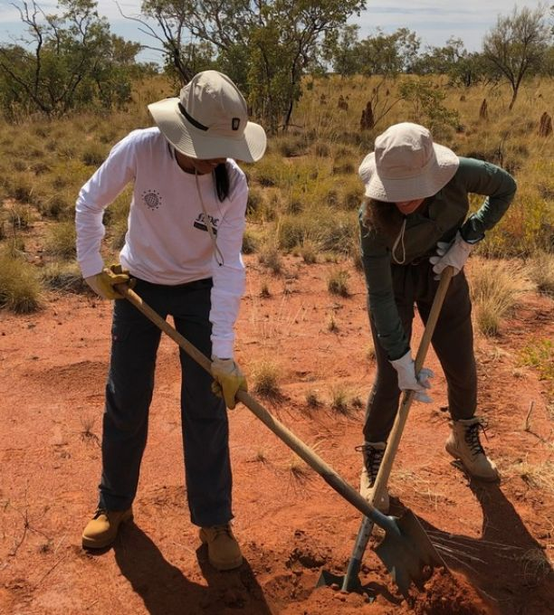 Setting up seismic sensors in the Northern Territory