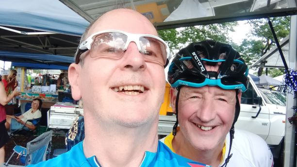 John McBride on a charity bike ride