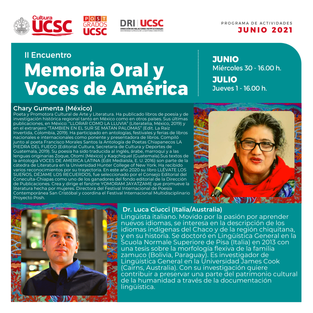 Talks on 'Historical linguistics and oral memory'