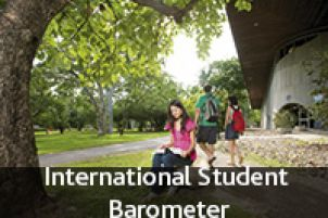 Button link to International Student Barometer page