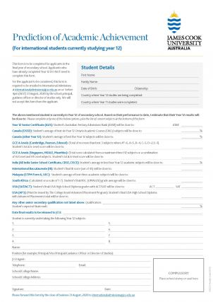 Application Forms  International Applicants  Jcu Australia
