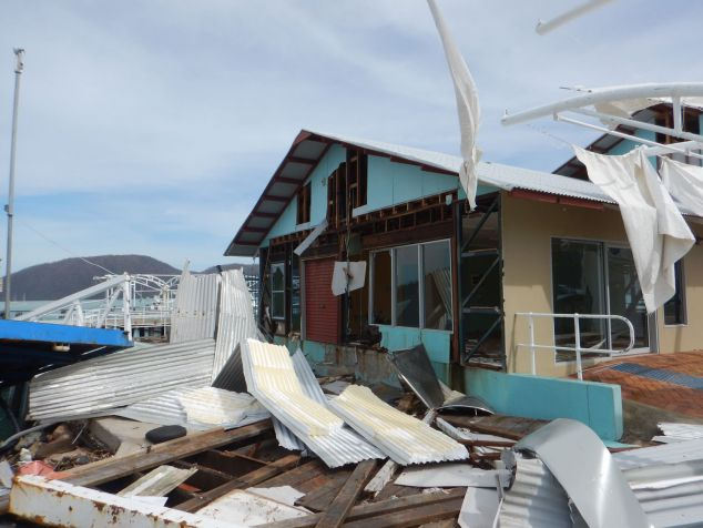 House severely damaged by Cyclone Debbie