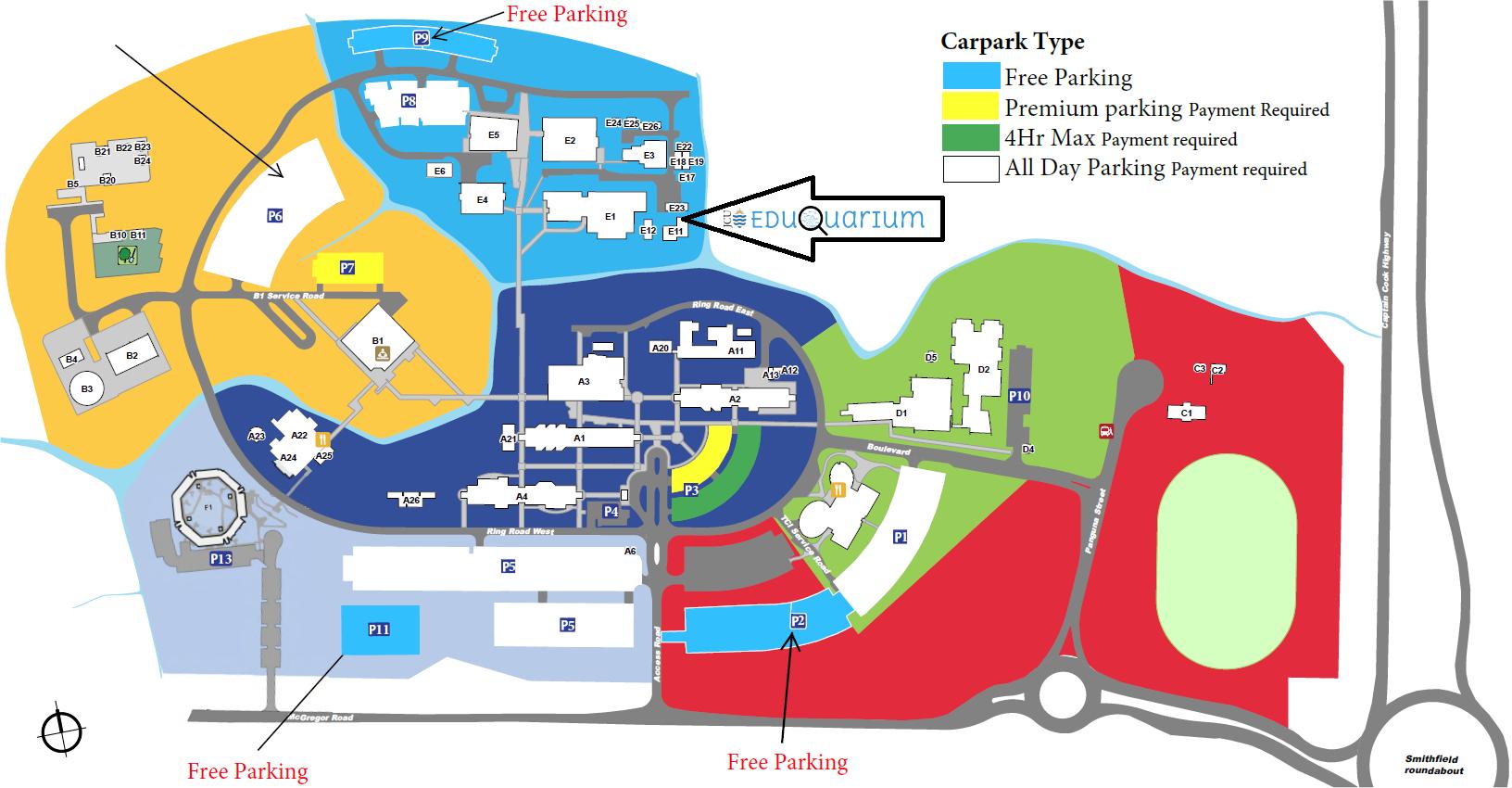 Cairns Parking Map