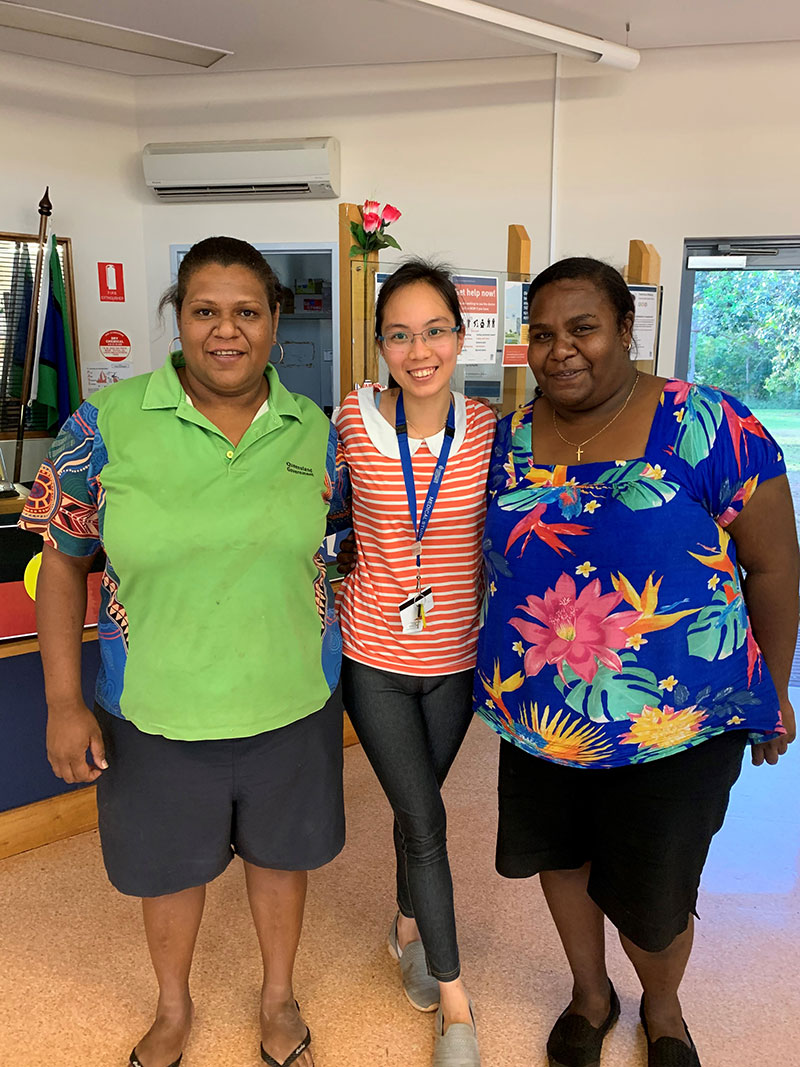 Frica with medical staff at Thursday Island