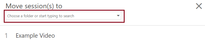search or select from the dropdown list