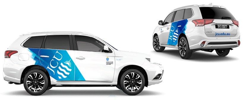 Artist image of the new JCU car branding design