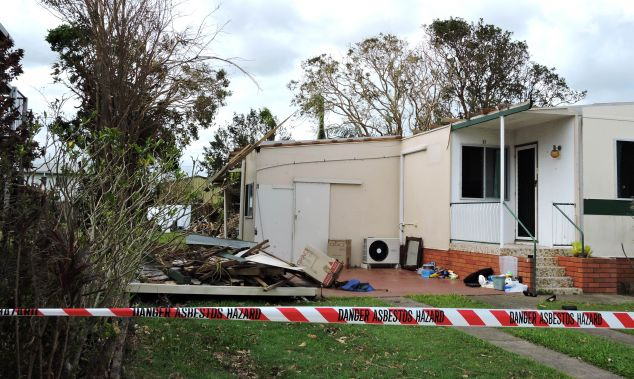 a cyclone-damaged home