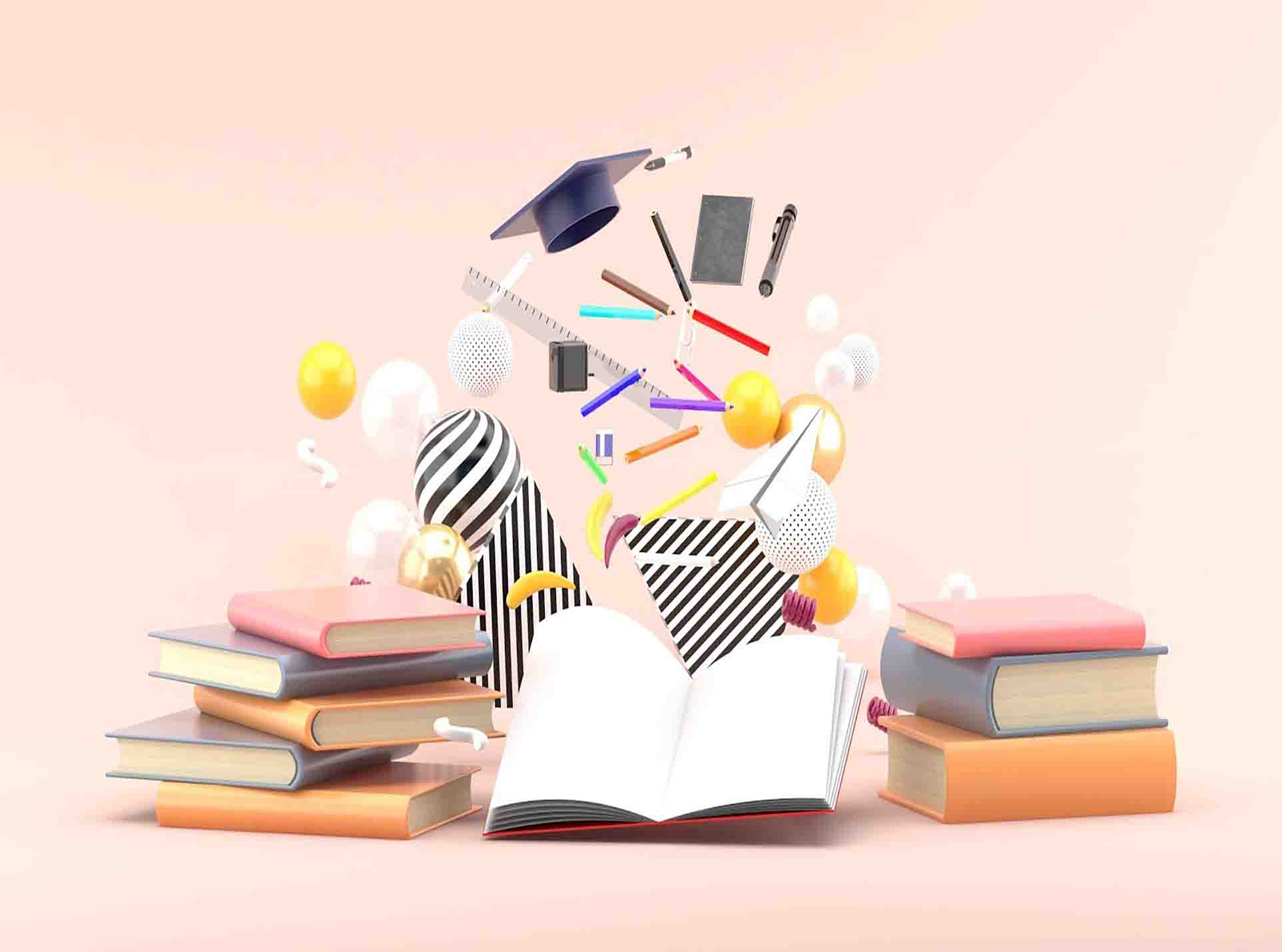 Study Tools in Pink