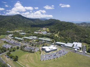 Aerial photo of JCU Cairns, Smithfield