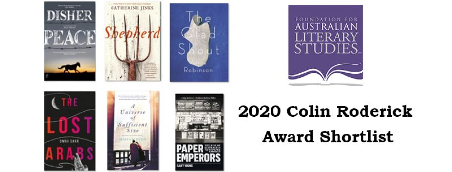 Graphic showing the covers of the six winners