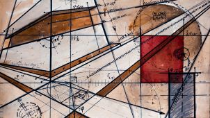 Modern abstract art showing mathematical structure