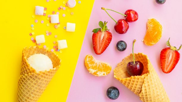 Sugary snacks vs health fruit