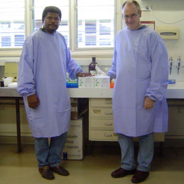 John MicBride in New Guinea working on HIV project