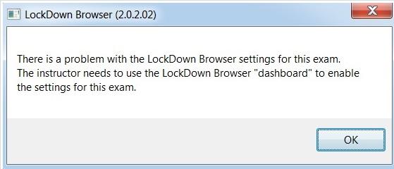 lockdown error popup.