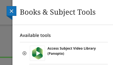 Subject Video Library