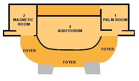 A diagram of the Townsville Convention Centre for JCU Graduation. Contact the Townsville student centre on Phone (07) 4781 5255 or freecall (within Australia) 1800 246 446 if you need assistance.