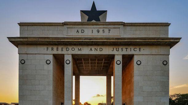 Photograph of Black Star Gate Monument in Ghana