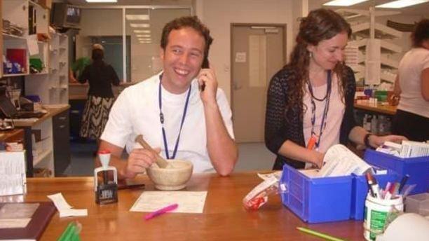 Eddie on the phone