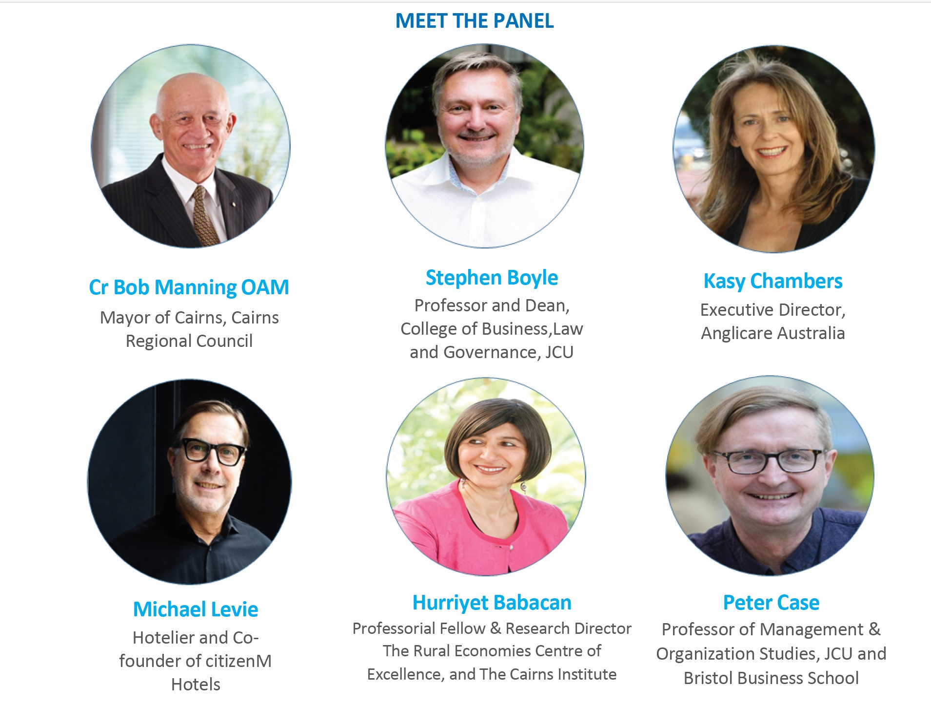 Panel Speakers: CR Bob Manning OAM, Stephen Boyle, Kasy Cambers, Michael levie, Hurriyet Babacan, Peter Case