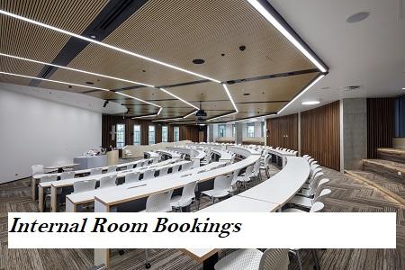 Internal room bookings link