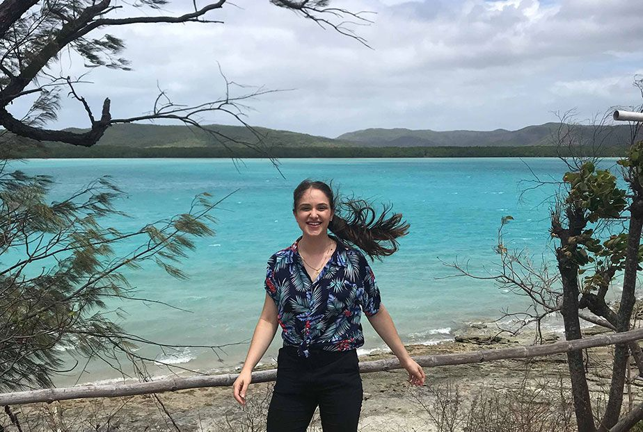 Emma Dall'Alba on placement in the Torres Strait