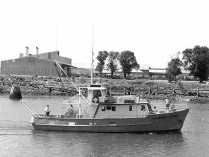 Research Vessel James Kirby entering Townsville Harbour 1972