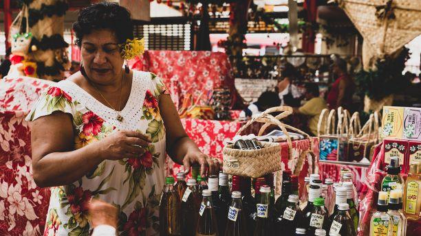 A marketplace in french polynesia Tahiti