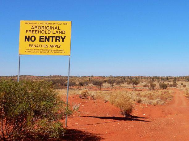 Aboriginal land sign