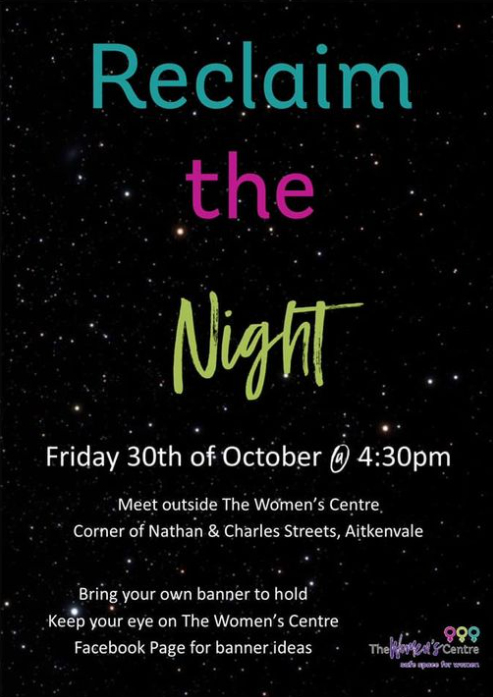 reclaim the night poster.