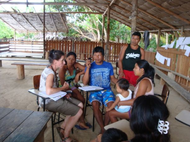 Studying languages in Santa Terezinha Brazil