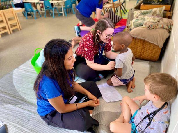 Jessica Storrar during outreach education