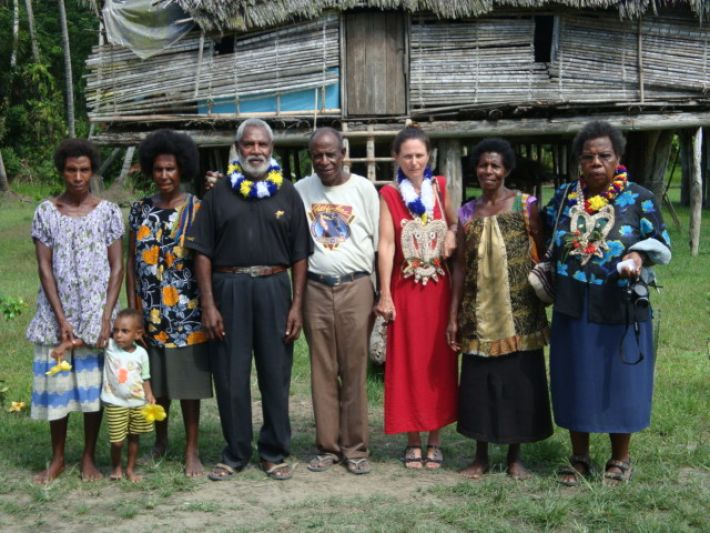 Professor Aikhenvald with locals in PNG
