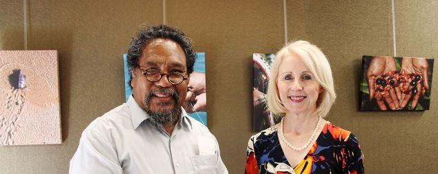 Professor Martin Nakata and Professor Sandra Harding