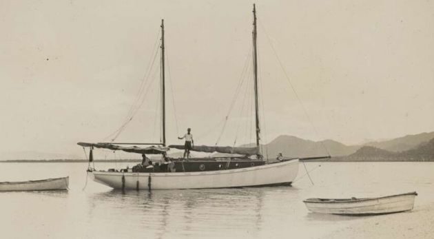 The Luana, at Snapper Island, 1928.