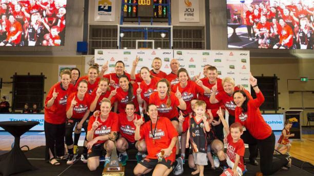 Dr Ainsley Walsh was part of a championship JCU Townsville Fire team