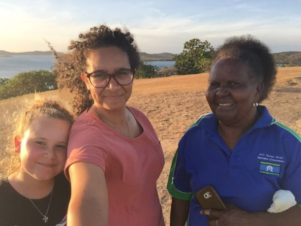Joanne with her mother and daughter on Thursday Island