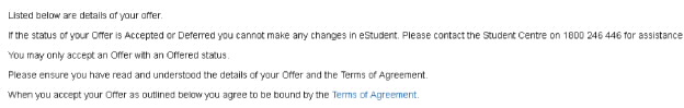Screenshot showing link to Terms of Agreement link.