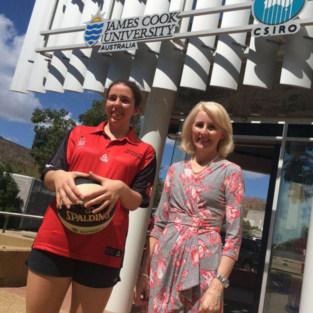 Dr Ainsley Walsh was signed as a JCU Townsville Fire development player