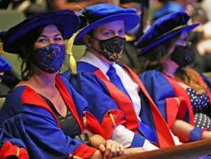Doctor of Philosophy graduates at the Cairns ceremony
