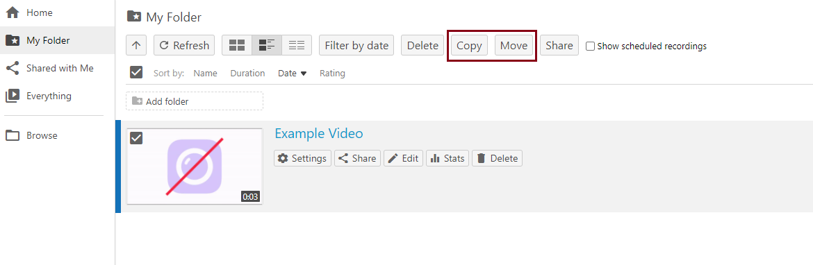 Select move or copy