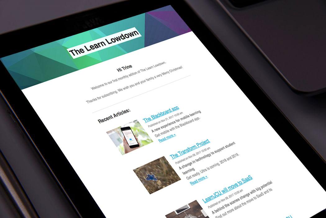 The Learn Lowdown Newsletter image