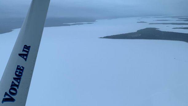 Flying across Canada